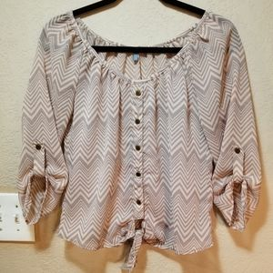 Charlotte Russe tie-front peasant top!!!